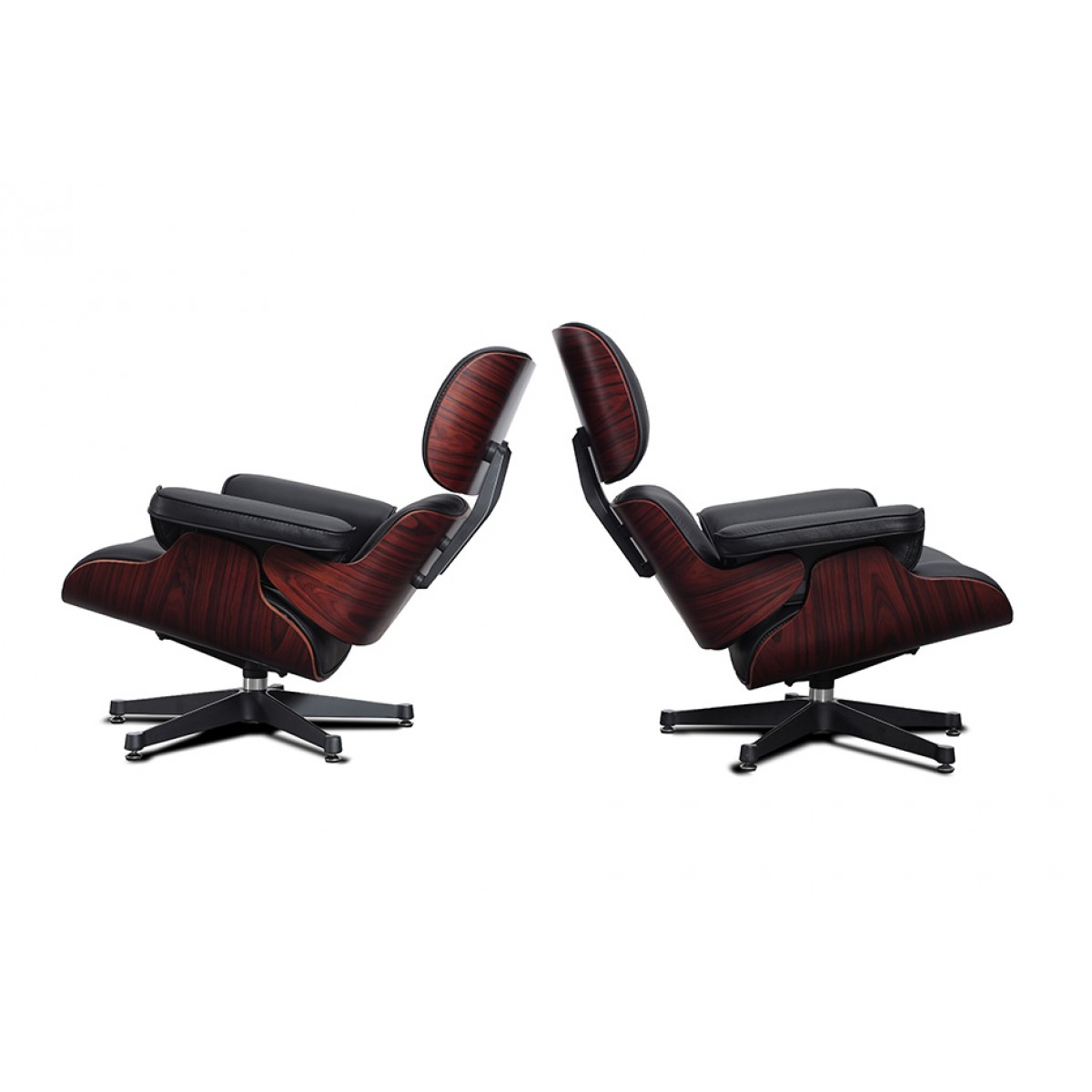 eames style lounge chair and ottoman rosewood black leather classroom table chairs