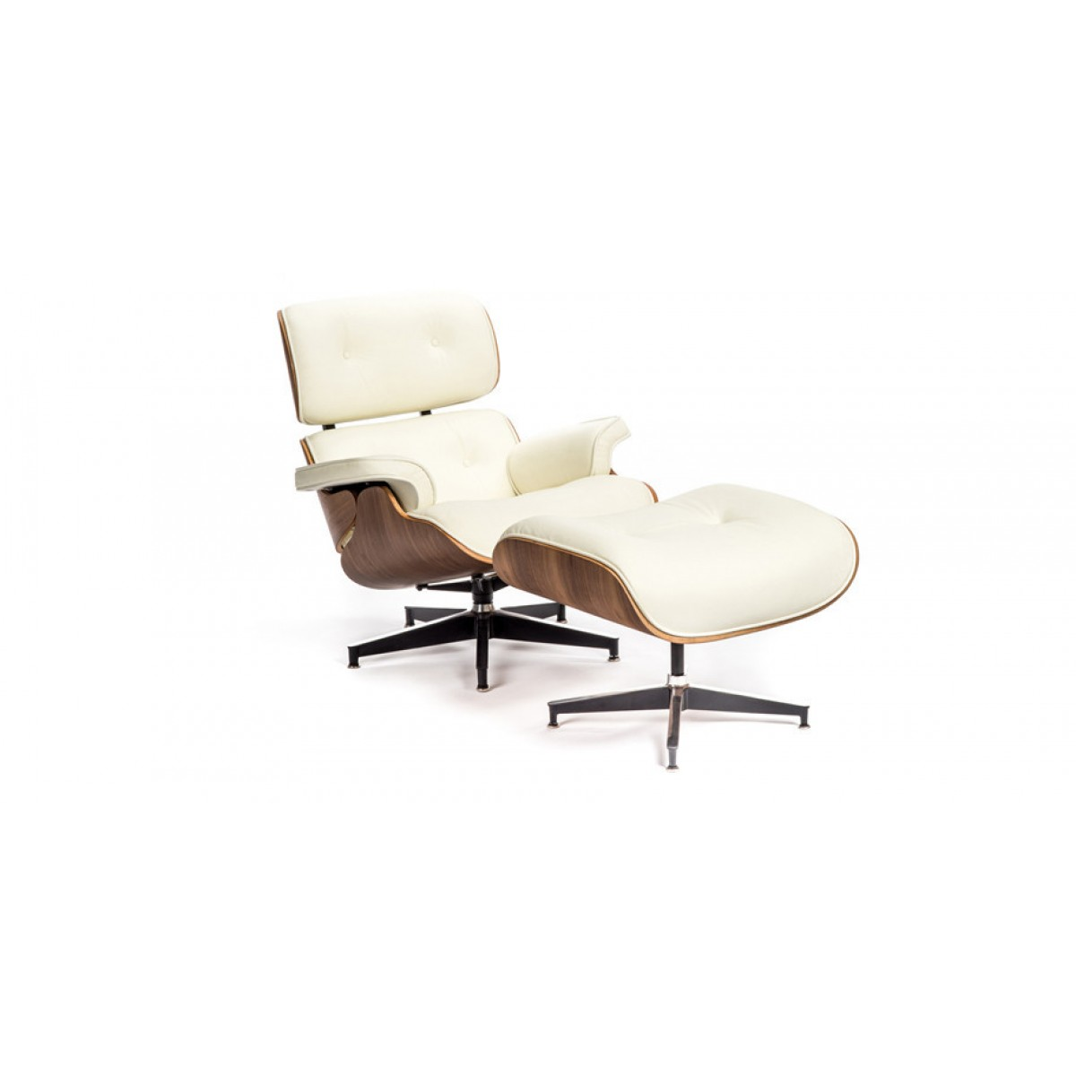 white eames lounge chair replica ghost style and ottoman leather walnut