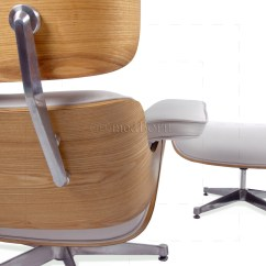 White Eames Lounge Chair Replica Best Eating Chairs For Toddlers Style And Ottoman Leather Ash Plywood Taller Version