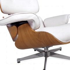 White Eames Lounge Chair Replica Robsjohn Gibbings Style And Ottoman Leather Ash Plywood