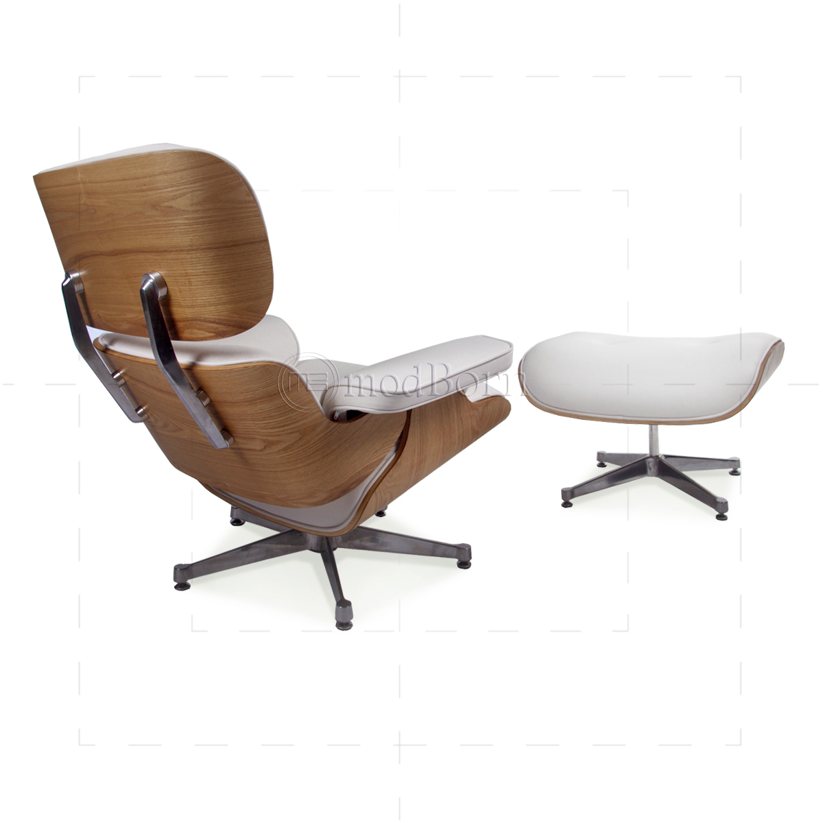 white eames lounge chair replica bean bag adults style and ottoman leather ash plywood taller version