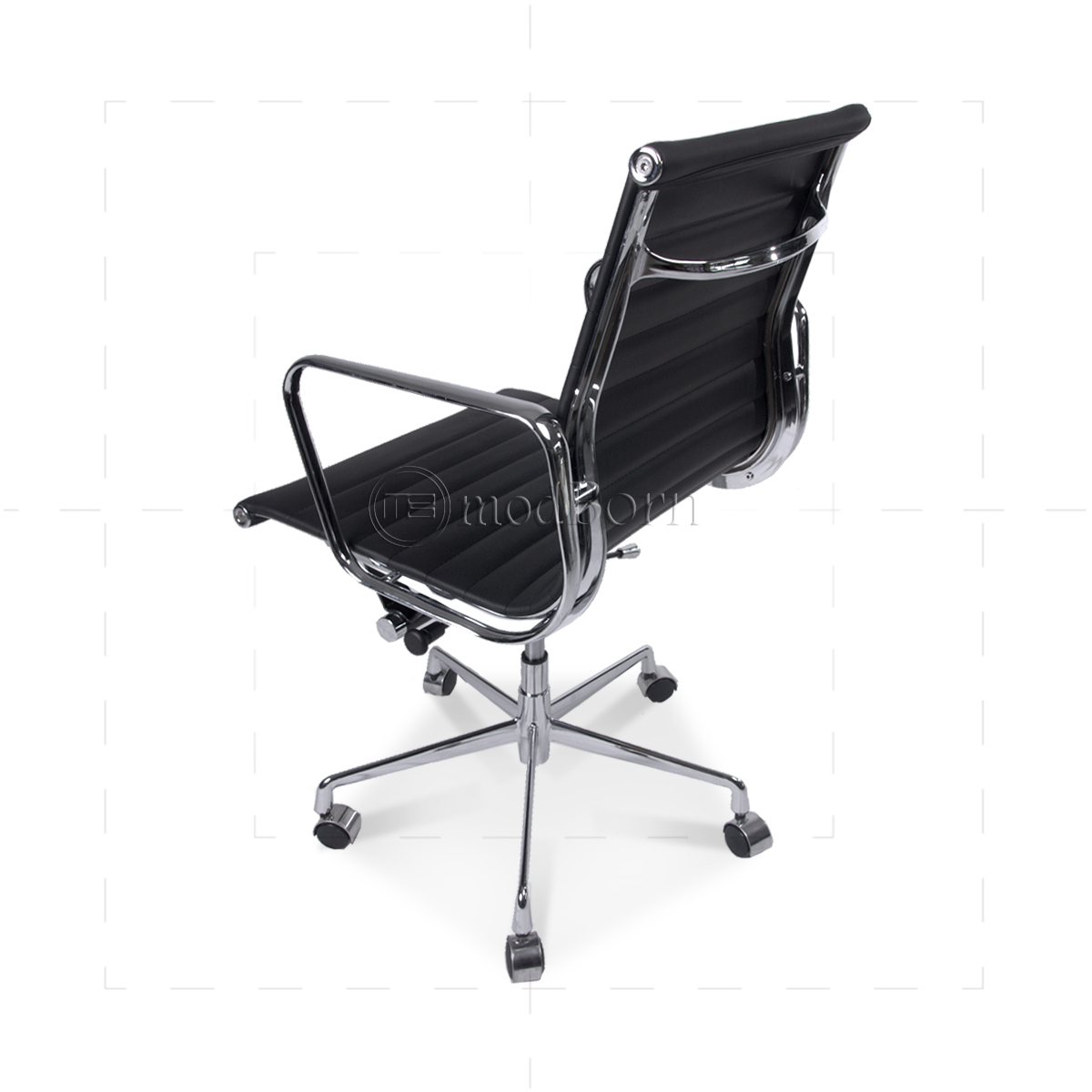 eames replica chairs uk double camping chair ea117 style office low back ribbed black