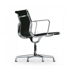 Low Back Office Chair Marcel Breuer Ea108 Eames Style Ribbed Black Leather