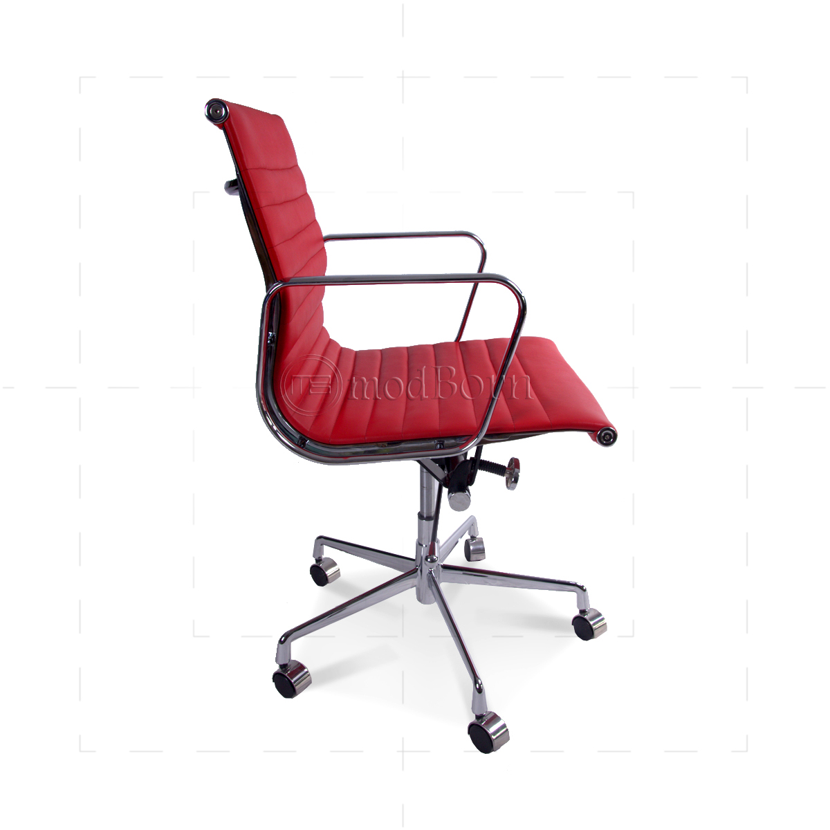 eames replica chairs uk portable living room ea117 style office chair low back ribbed red leather
