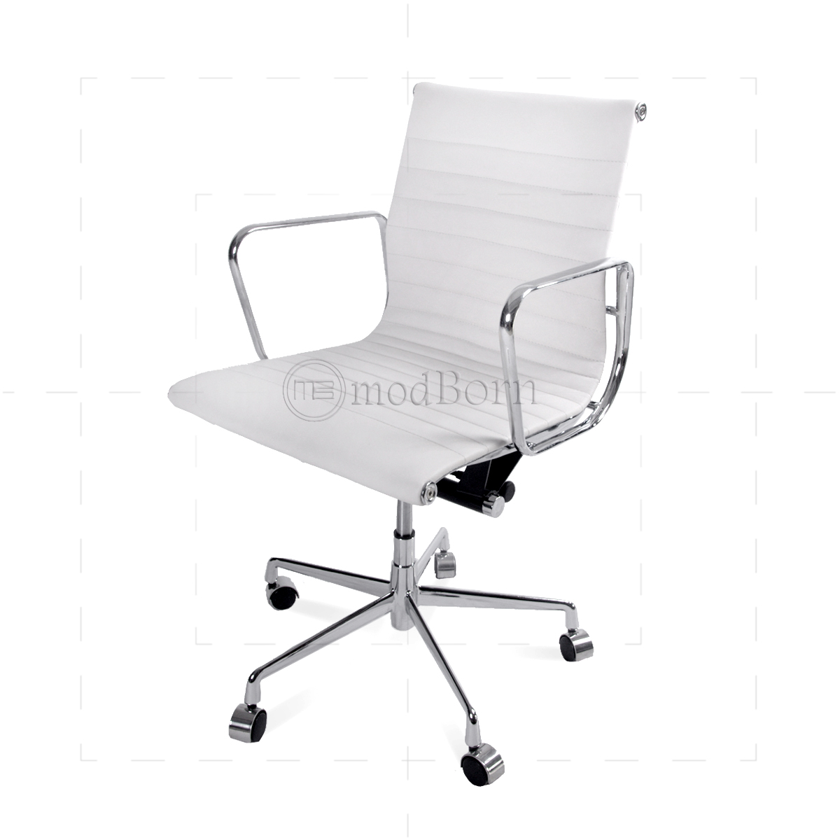 Office Chairs White Ea117 Eames Style Office Chair Low Back Ribbed White