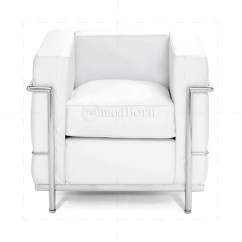 Le Corbusier Sofa Replica Polovan Namestaj Mija Style Lc2 Armchair 1 Seater White Leather