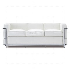 Le Corbusier Sofa Replica La Z Boy Tamla 2 Seater Power Recliner Style Lc2 3 White Leather
