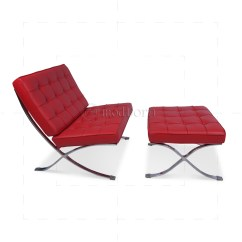 Barcelona Chair Replica Uk Pink Folding Camping Ludwig Mies Ven Der Rohe Style Red Leather