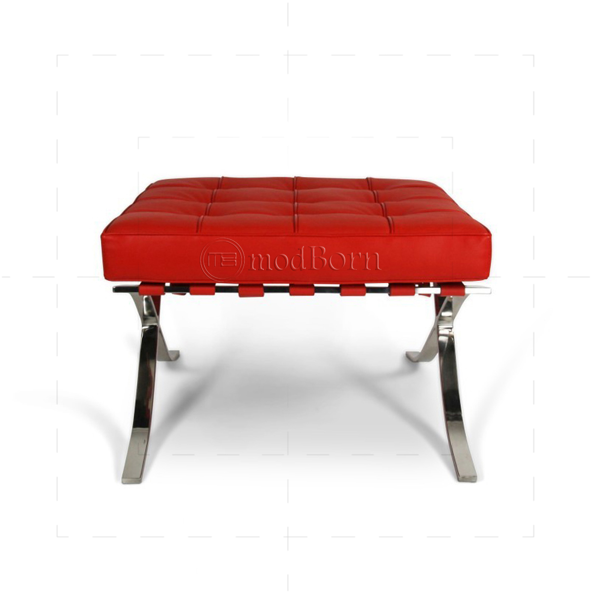 barcelona chair replica uk herman miller used office chairs ludwig mies van der rohe style ottoman red