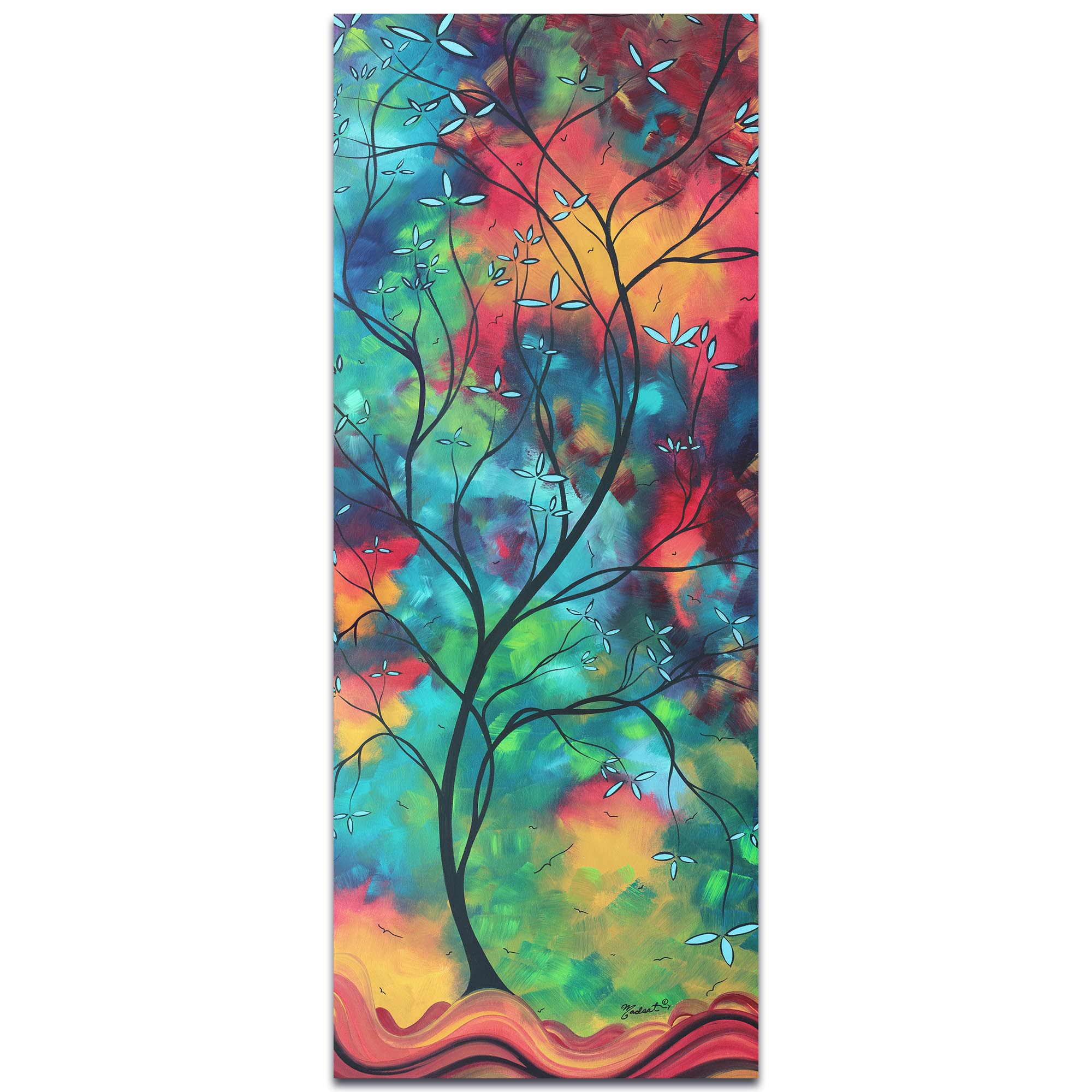 Colored Inspiration By Megan Duncanson Landscape Painting On Metal Or Acrylic