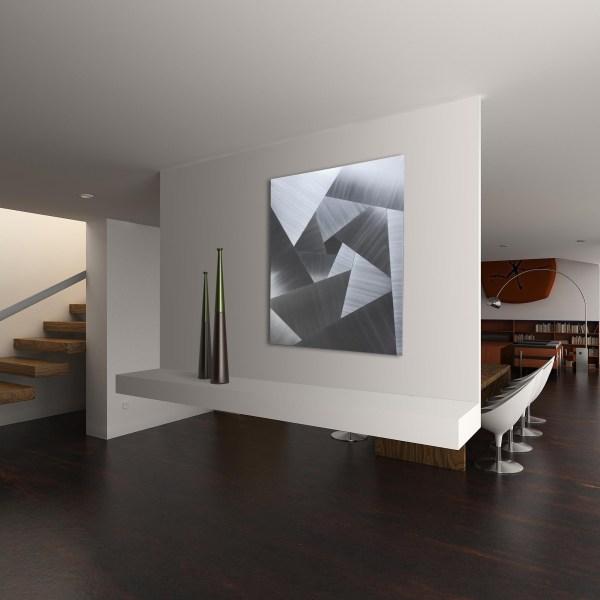 Cubism Metal Art Abstract Steel Decor Modern Artwork