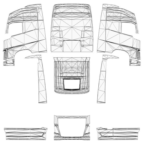 ETS 2: Templates for all Trucks v 1.0 Skins Mod für