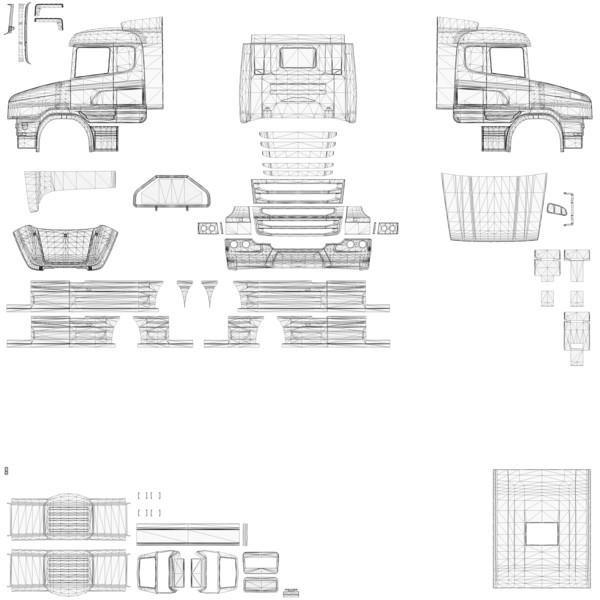 ETS 2: Scania T Cab Photoshop v 1.0 Skins Mod für