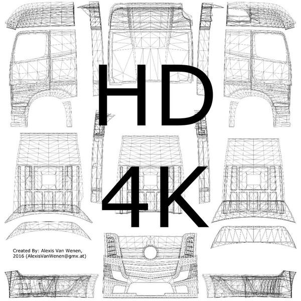 ETS 2: TruckSkinTemplate 4K v 1.0 für Volvo FH 2012 Skins