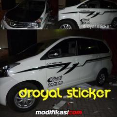 Cutting Sticker Grand New Avanza 2007 Toyota Yaris Trd Parts Baru Car Wrapping Dan Branding Mobil Di Surabaya