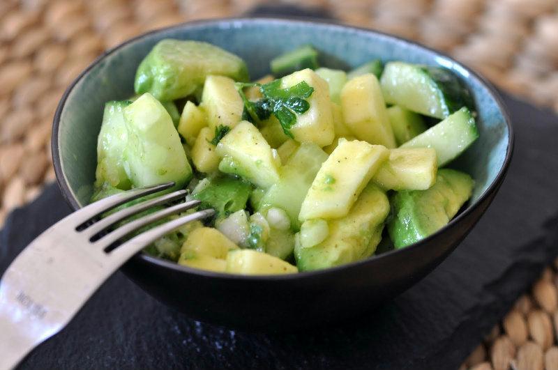 Salsa verdi : Pommes, Concombre et Avocat