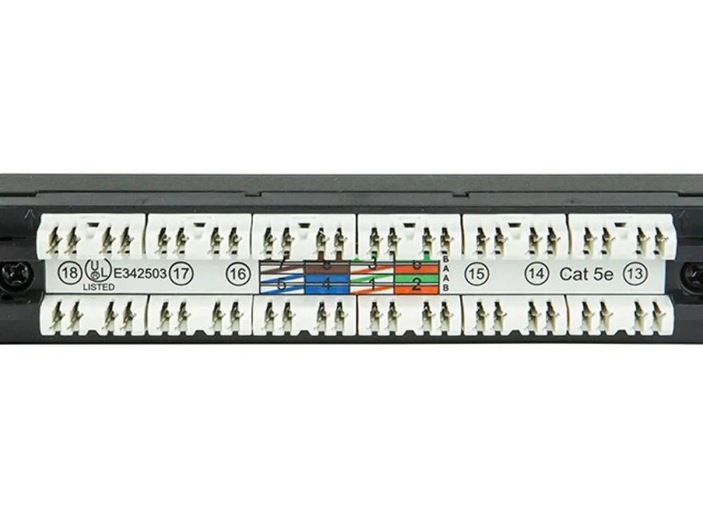 medium resolution of monoprice spacesaver 19 inch half u utp cat5e patch panel 24 ports dual