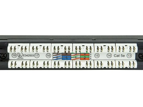 small resolution of monoprice spacesaver 19 inch half u utp cat5e patch panel 24 ports dual