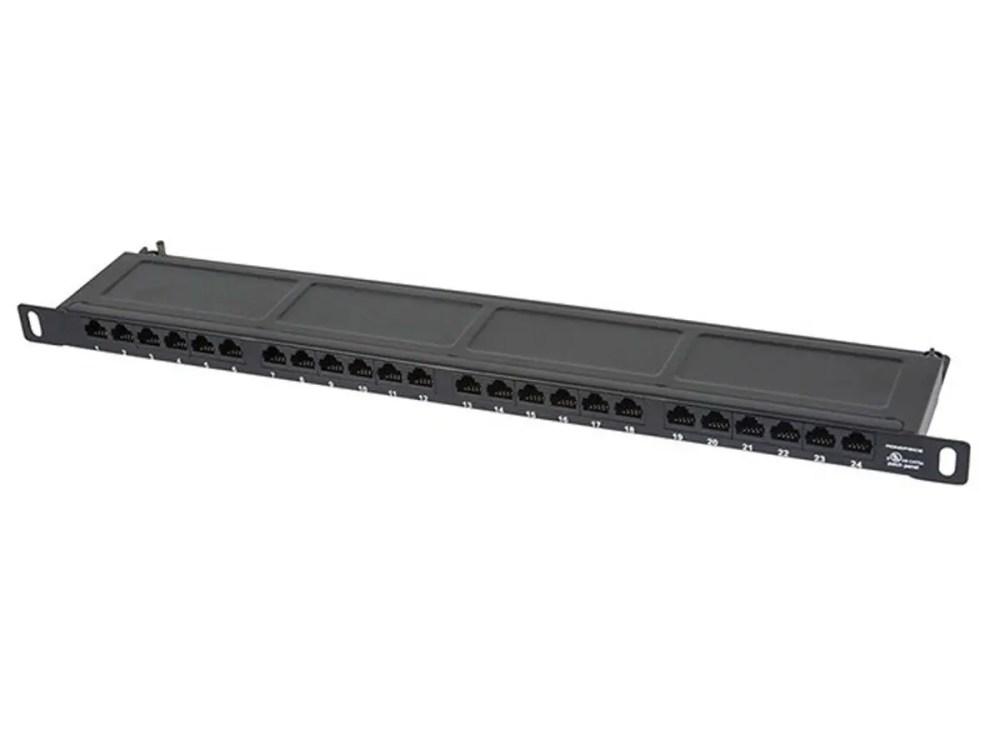 medium resolution of monoprice spacesaver 19 inch half u utp cat6 horizontal 180 degree patch panel