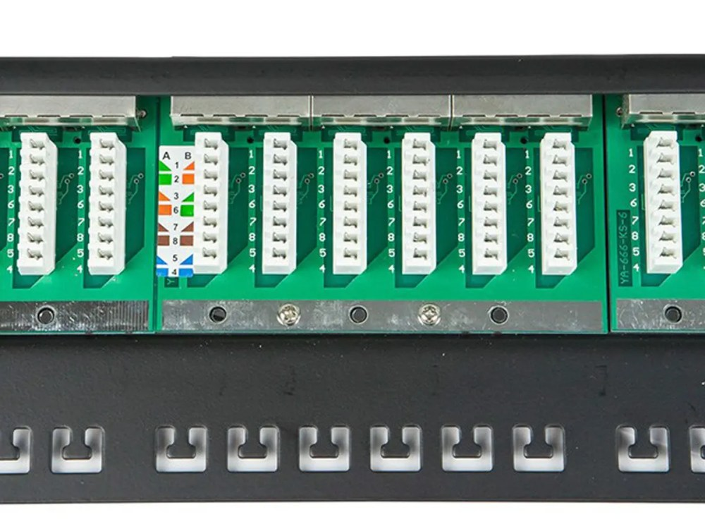 medium resolution of krone patch panel wiring diagram krone image spacesaver 19 34 half u shielded cat5e patch panel