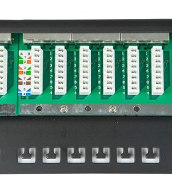 monoprice entegrade series spacesaver 19 inch half u shielded cat6a patch panel 24 [ 1200 x 900 Pixel ]