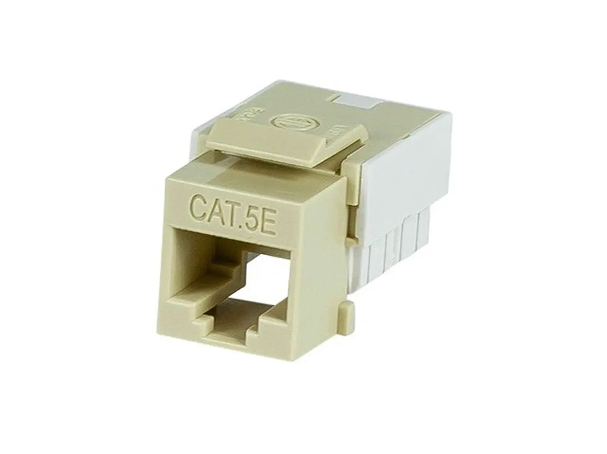 hight resolution of monoprice slim cat5e punch down keystone jack beige large image 1