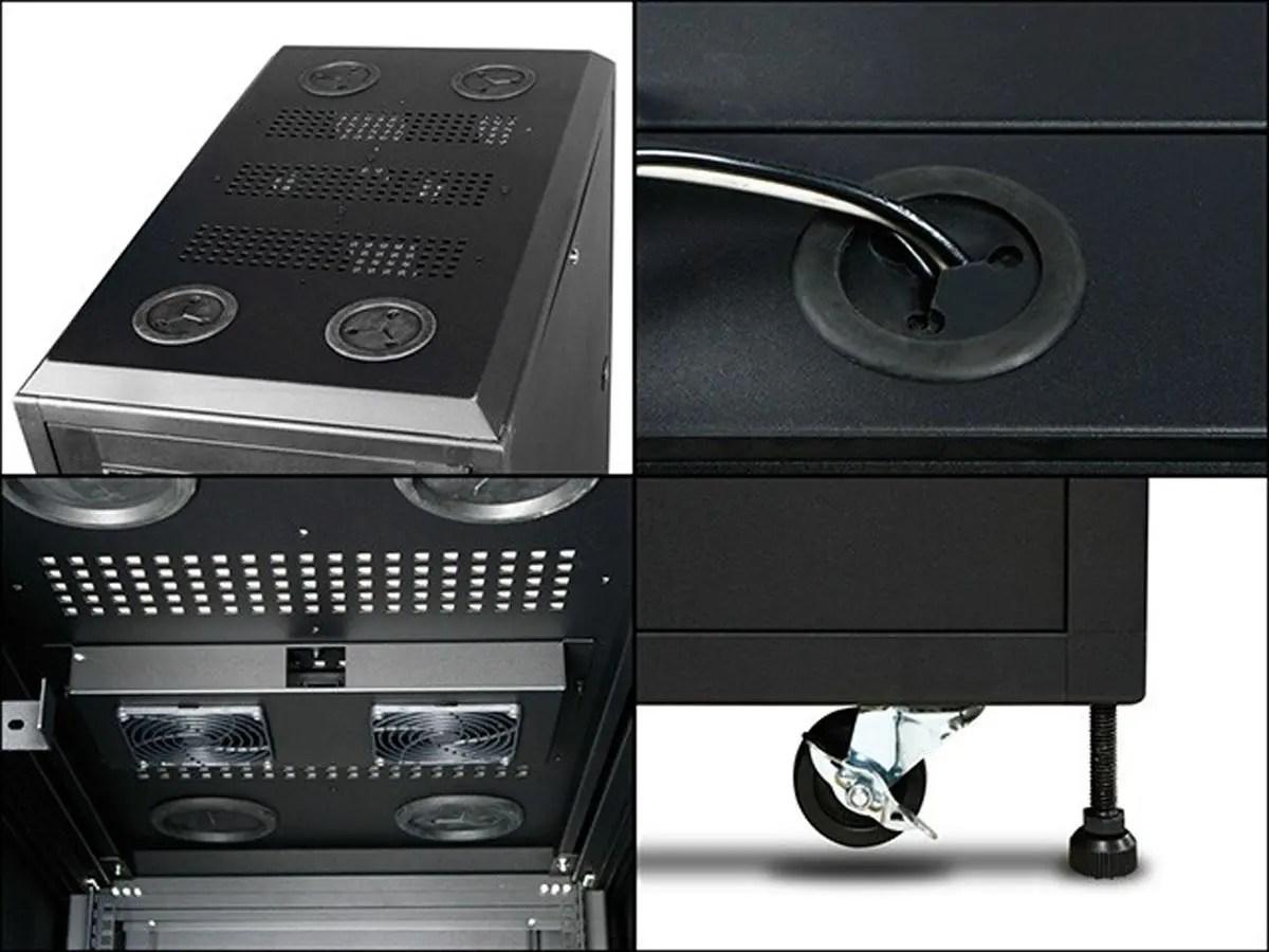 monoprice 36u 800mm depth rack mount server cabinet gsa approved