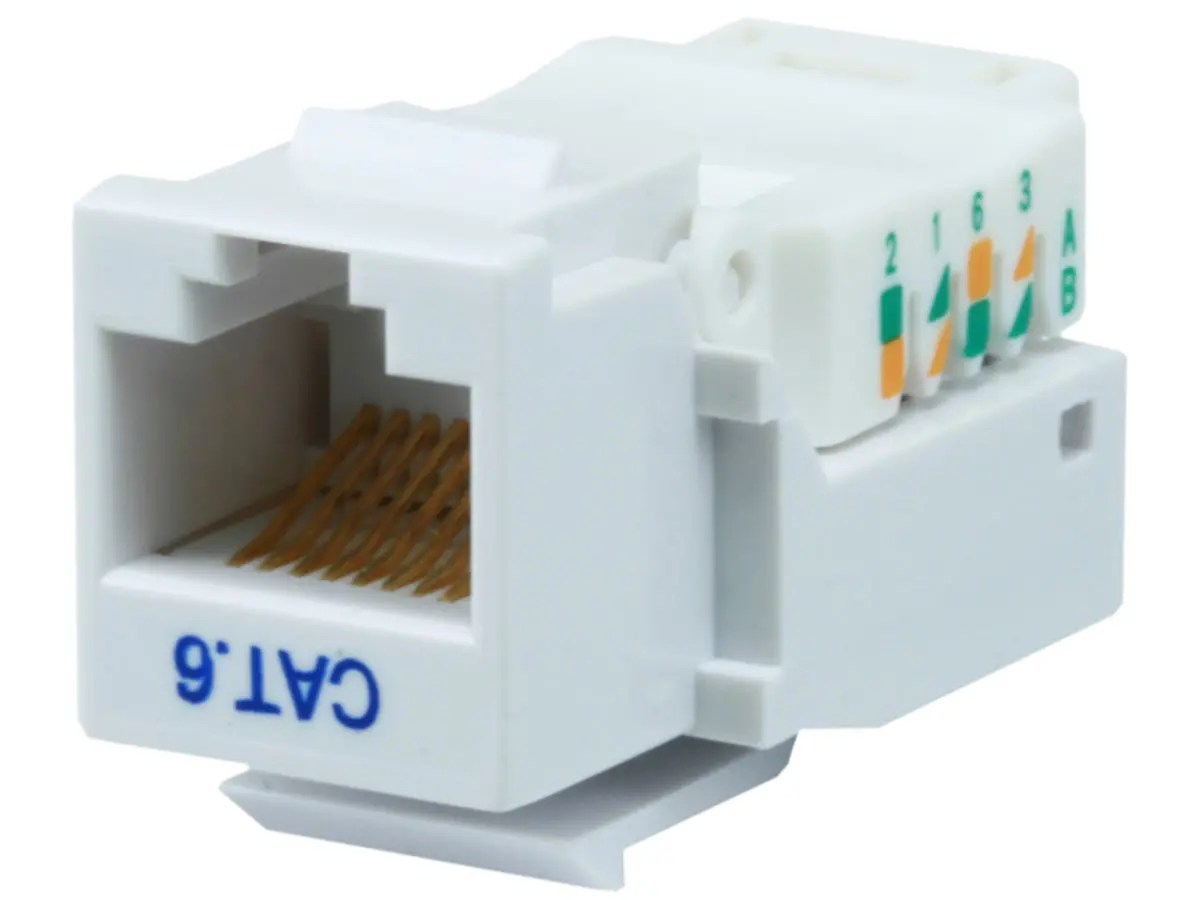 hight resolution of monoprice cat6 rj 45 toolless keystone white large image 1