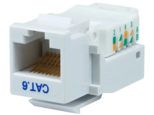small resolution of monoprice cat6 rj 45 toolless keystone white large image 1