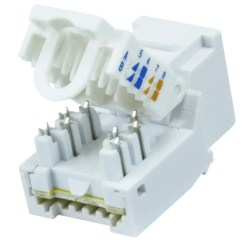Cat6 Jack Wiring Diagram Half Switched Outlet Monoprice Rj 45 Toolless Keystone White