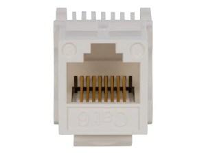 Monoprice Cat6 RJ45 Toolless Keystone  White  Monoprice