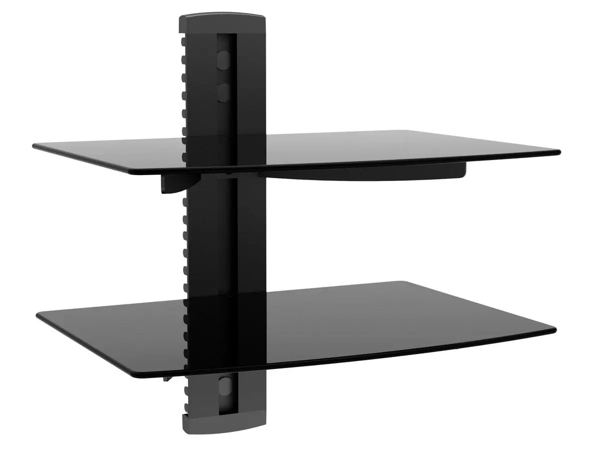 Monoprice 2 Shelf Wall Mount Bracket For Tv Components With