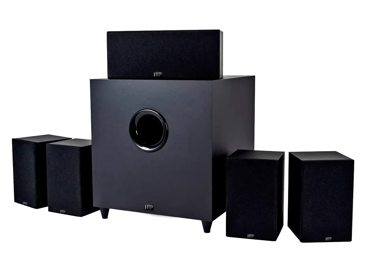 hight resolution of monoprice premium 5 1 ch home theater system with subwoofer large image