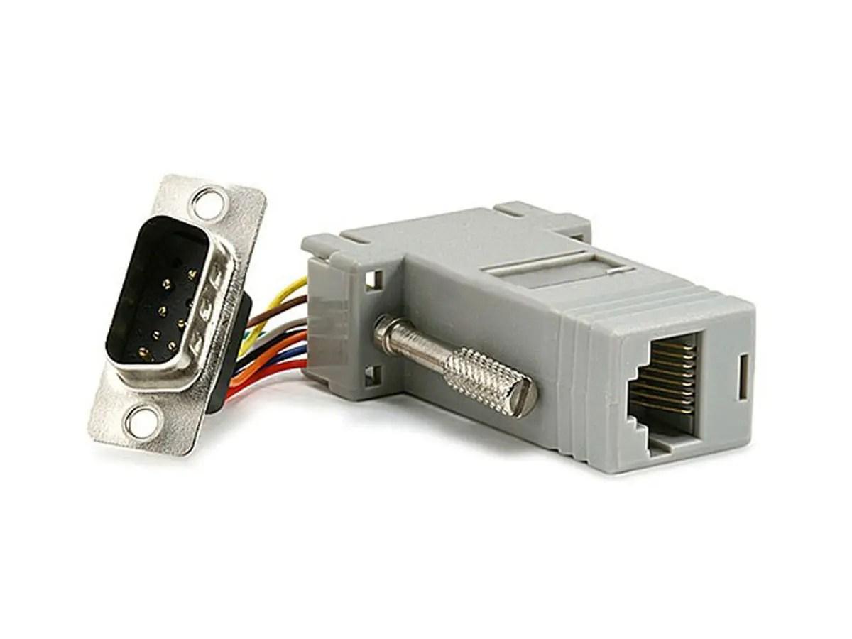 hight resolution of monoprice db9m rj 45 modular adapter large image 1