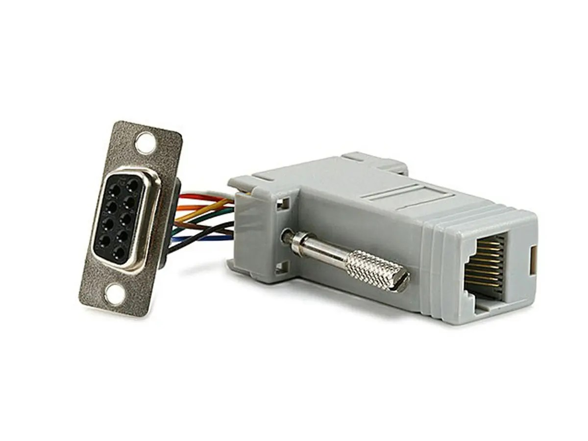 hight resolution of monoprice db9f rj 45 modular adapter large image 1