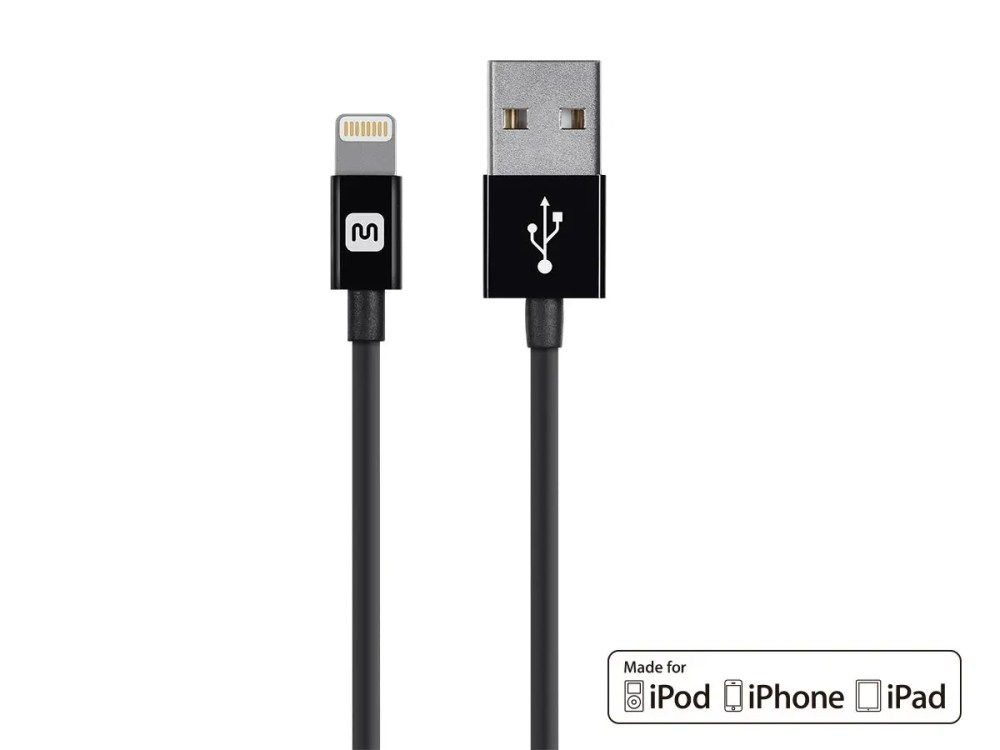 medium resolution of monoprice select series apple mfi certified lightning to usb charge sync cable 3ft black