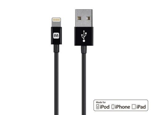 small resolution of monoprice select series apple mfi certified lightning to usb charge sync cable 3ft black