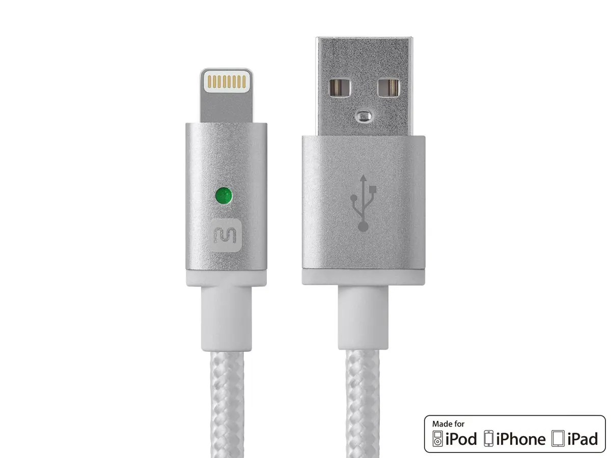 hight resolution of monoprice luxe series apple mfi certified lightning to usb charge sync cable 6ft white