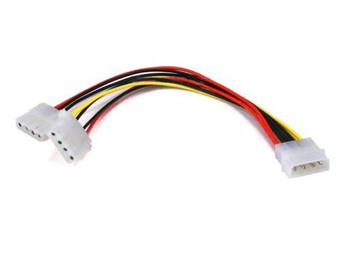 small resolution of monoprice molex power splitter cable 1x 5 25in male to 2x 5 25in female