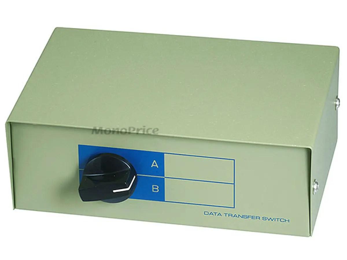 hight resolution of monoprice rj11 rj12 ab 6p6c 2way switch box large image 1