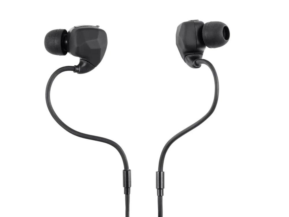 medium resolution of monoprice sweatproof bluetooth wireless earbuds headphones with memory wire mic large image