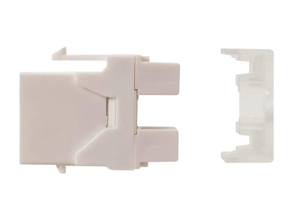 medium resolution of monoprice cat6 rj45 180 degree punch down keystone dual idc white small