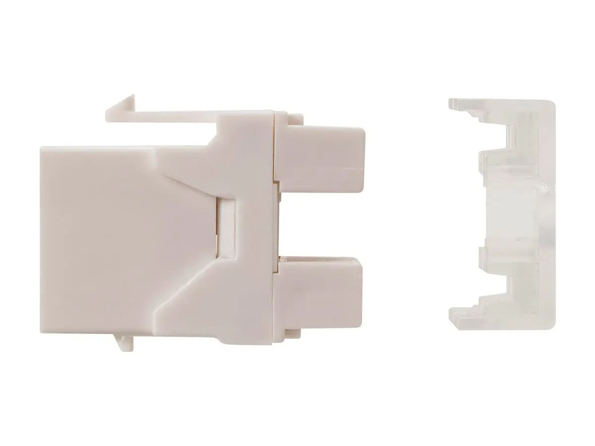 hight resolution of monoprice cat6 rj45 180 degree punch down keystone dual idc white small