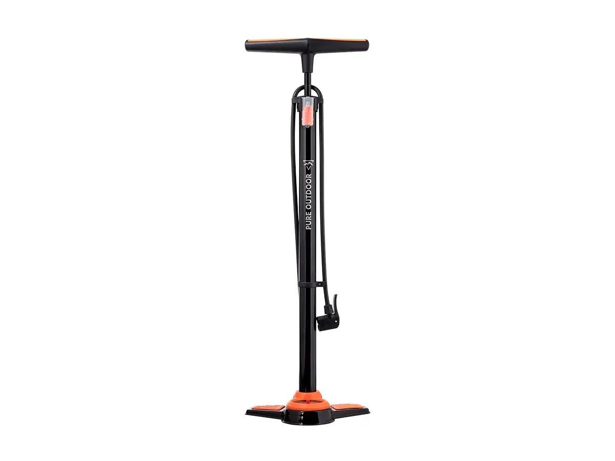 Monoprice Bicycle Floor Pump with Pressure Gauge, 160 psi