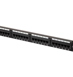 24 port cat6 patch panel black painted steel panel numbered ports white blanks for easy labeling and identification color coded wiring diagram on back ul  [ 1200 x 900 Pixel ]