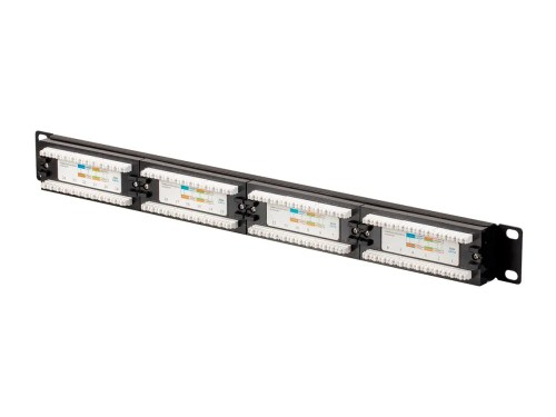 small resolution of monoprice cat6 utp 19 inch 1u patch panel 24 port small