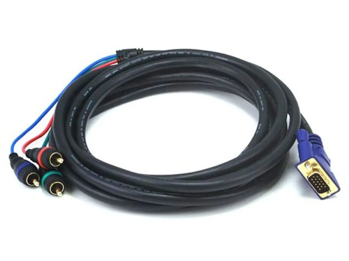 small resolution of monoprice 12ft vga to 3 rca component video cable hd15 3 rca