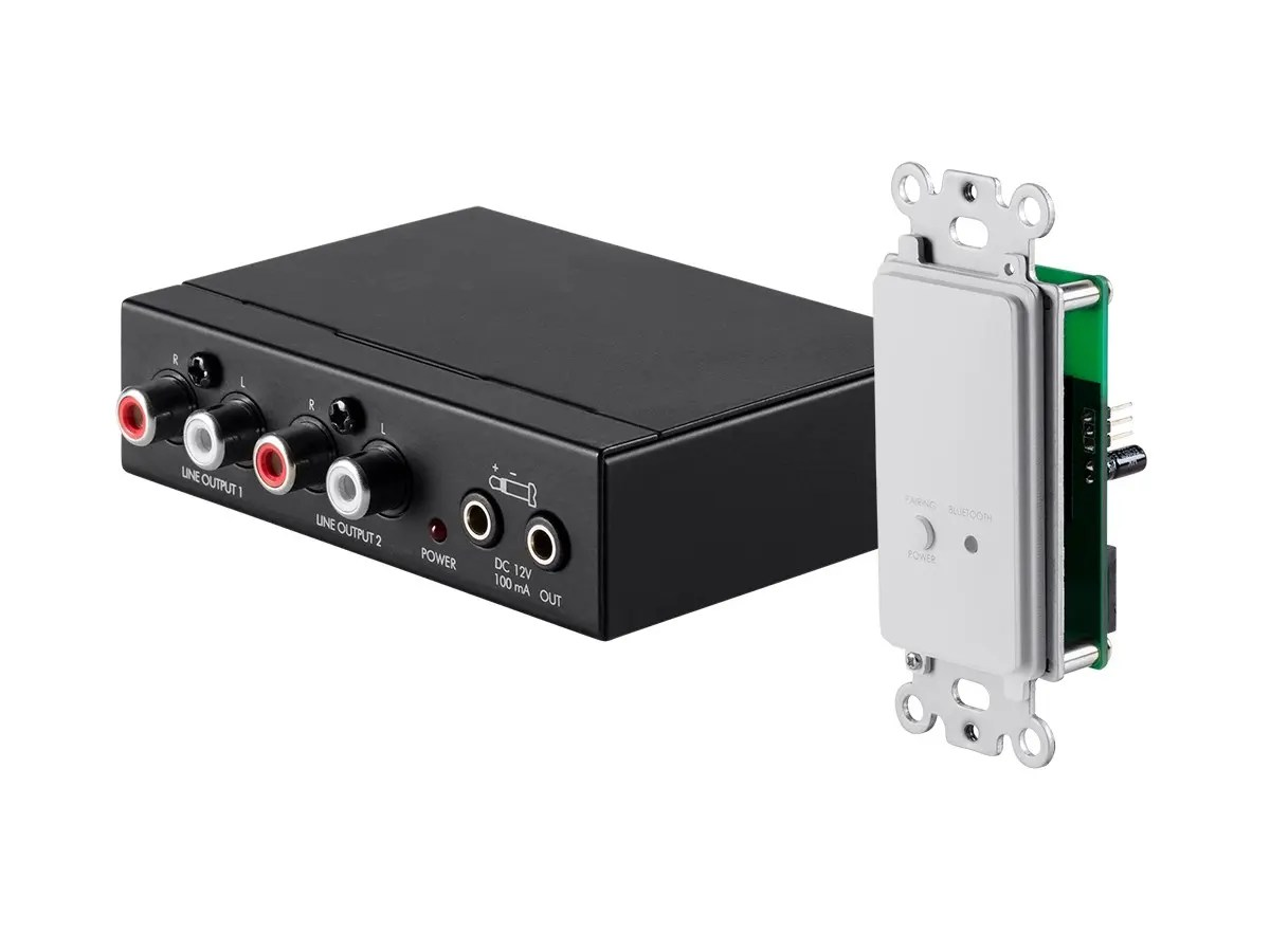 hight resolution of monoprice multizone source keypad with bluetooth receiver and rj45 to rca converter large image
