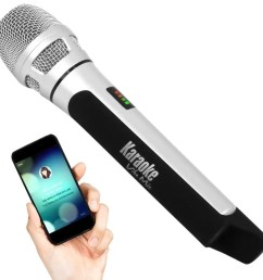 pyle wireless bluetooth streaming karaoke microphone fm radio station broadcasting with multiple adjustable settings  [ 1200 x 900 Pixel ]