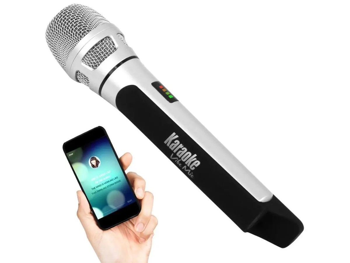hight resolution of pyle wireless bluetooth streaming karaoke microphone fm radio station broadcasting with multiple adjustable settings